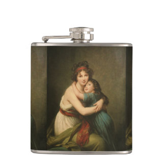 Elisabeth with Her Daughter 1780-1819 Hip Flask