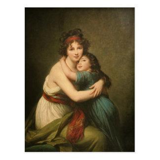 Elisabeth with Her Daughter 1780-1819 Postcard