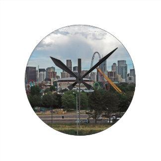 Elitch Gardens and the Downtown Denver Colorado Sk Clock