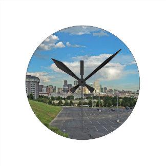 Elitch Gardens and the Downtown Denver Colorado Sk Wall Clock