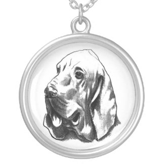 Elite Hunting Bloodhound Necklace