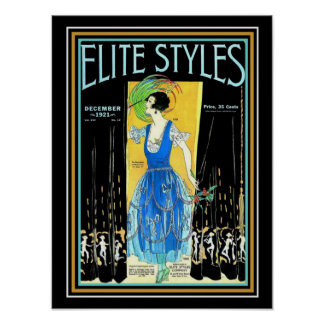 Elite Styles Art Deco 1921 Cover 12 x 16 Poster