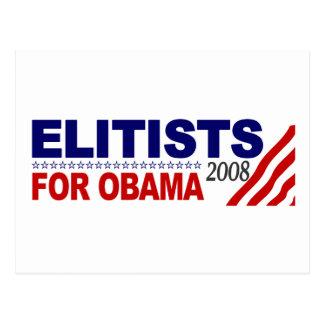 Elitists For Obama Postcard