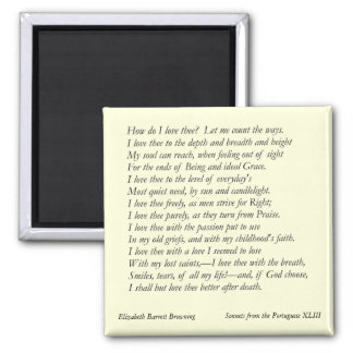 Elizabeth Barrett Browning - 42 Magnet
