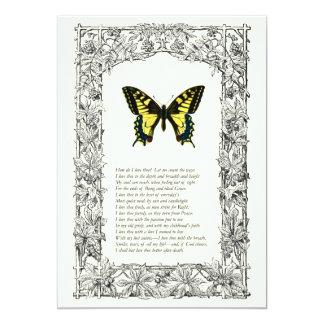 """Elizabeth Barrett Browning - 43 5"""" X 7"""" Invitation Card"""
