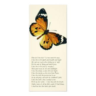 """Elizabeth Barrett Browning - 43 4"""" X 9.25"""" Invitation Card"""