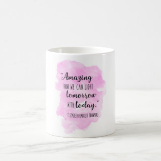 Elizabeth Barrett Browning Watercolor Quote Mug