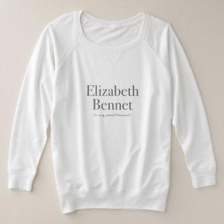 Elizabeth Bennet is My Spirit Animal Plus Size Sweatshirt