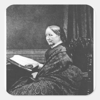 Elizabeth Cleghorn Gaskell  19th century Square Sticker