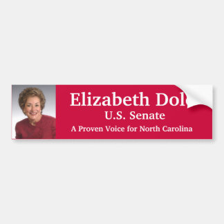Elizabeth Dole for U.S. Senate Bumper Sticker