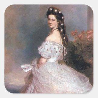 Elizabeth , Empress of Austria, 1865 Square Sticker