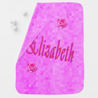 Elizabeth Girls Name Logo, Baby Blanket