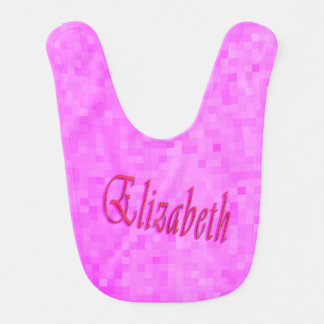 Elizabeth Girls Name Logo, Bib