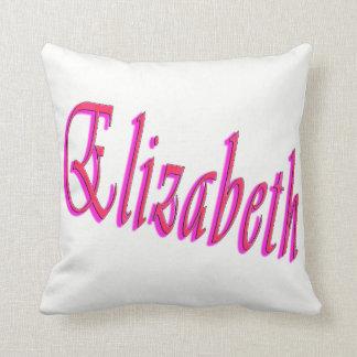 Elizabeth Girls Name Logo, Throw Pillow
