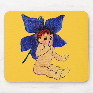 Elizabeth Gordon M T Ross Violet Flower Fairy Mouse Pad