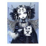Elizabeth Gothic Victorian Persian Cat Angel Postcard