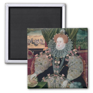 Elizabeth I, Armada Portrait, c.1588 Square Magnet