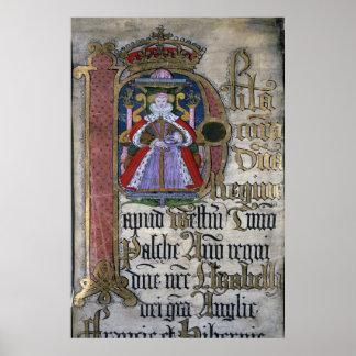 Elizabeth I, Coram Rege Rolls Poster