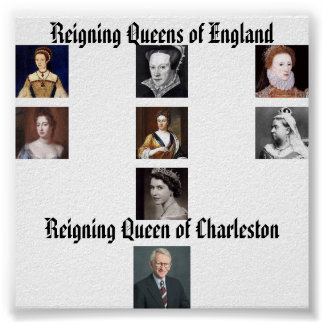 Elizabeth I, Elizabeth II, Lady Jane Grey, Mary... Poster