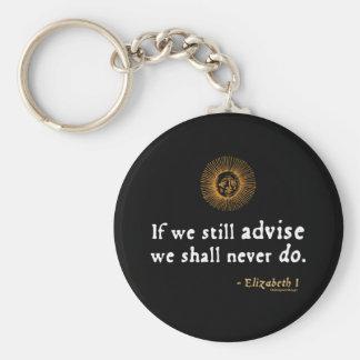Elizabeth I Quote on Indecision Keychain