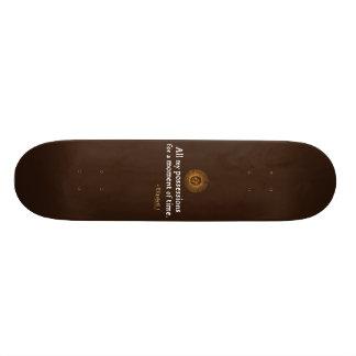 Elizabeth I Quote on Time Skateboard Decks