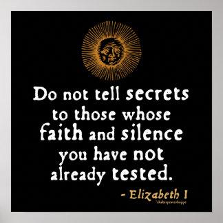 Elizabeth I Quote on Trust Poster