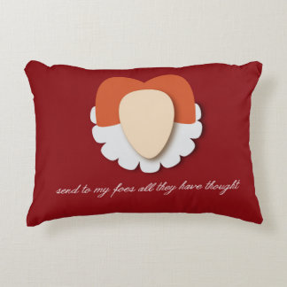 """Elizabeth I """"Send to my Foes"""" Accent Pillow"""