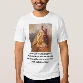Elizabeth II, je déclare avant que vous tous ce Tee Shirts