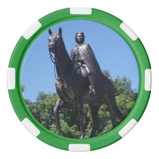 Elizabeth II Statue in Montreal City Poker Chips