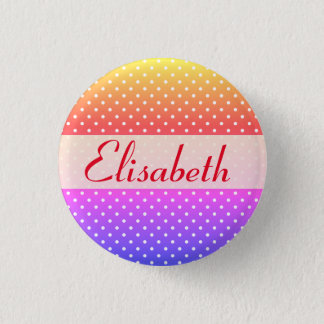Elizabeth name plate Anstecker 1 Inch Round Button