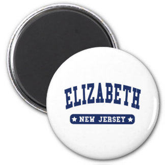 Elizabeth New Jersey College Style tee shirts Magnet