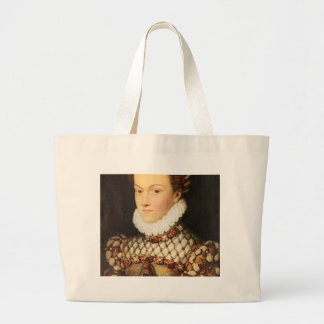 Elizabeth of Austria, Queen of France Large Tote Bag