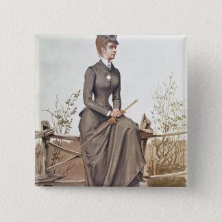 Elizabeth of Bavaria 2 Inch Square Button