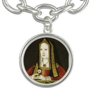 Elizabeth of York Queen of England Charm Bracelet