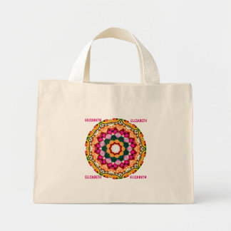 ELIZABETH ~ Personalized Gem Stone Fractal ~ Mini Tote Bag