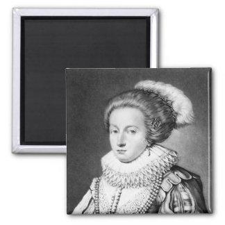 Elizabeth Stuart, reine de la Bohême Magnet Carré