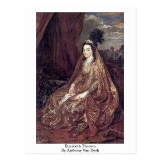 Elizabeth Theresa By Anthony Van Dyck Postcard