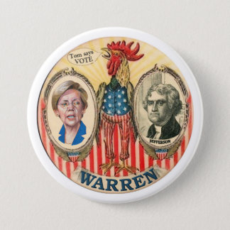 Elizabeth Warren 2016 3 Inch Round Button