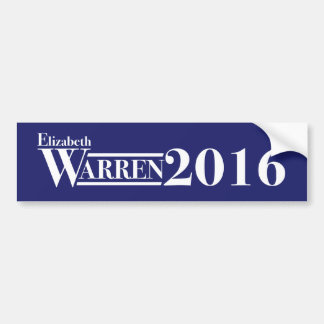 Elizabeth Warren 2016 bumper sticker