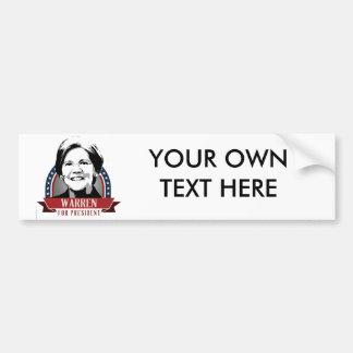 ELIZABETH WARREN 2016 SPANGLE - 2016.png Bumper Sticker