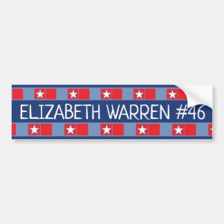 ELIZABETH WARREN #46 Presidential Election Bumper Sticker