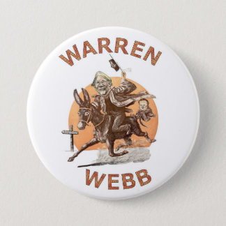 Elizabeth Warren and Jim Webb in 2016 3 Inch Round Button