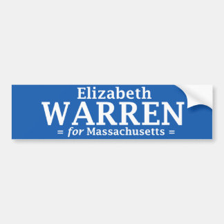 Elizabeth Warren for Massachusetts sticker