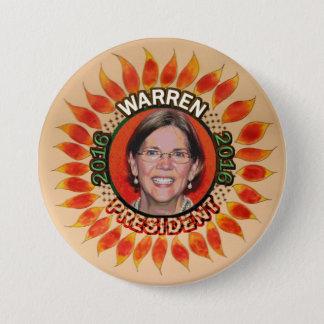 Elizabeth Warren For President 2016 3 Inch Round Button