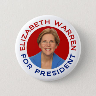 Elizabeth Warren For President 2 Inch Round Button