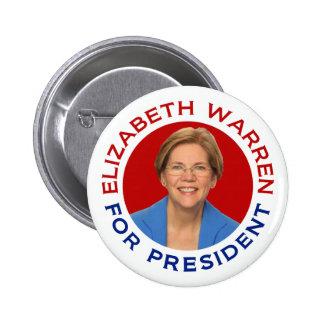 Elizabeth Warren For President 2 Inch Round Button