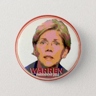 Elizabeth Warren for President in 2016 2 Inch Round Button