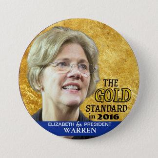 Elizabeth Warren for President in 2016 3 Inch Round Button