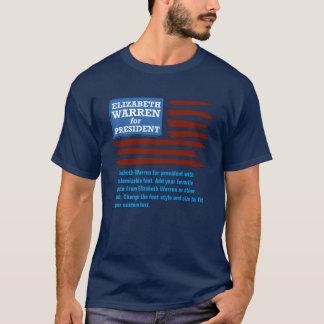 Elizabeth Warren for president with customizable T-Shirt