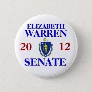 ELIZABETH WARREN FOR SENATE 2 INCH ROUND BUTTON